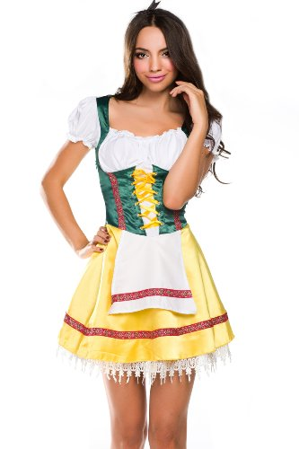 Ninimour- Swiss Girl Beer Wench Costume Fancy Party Dress Halloween