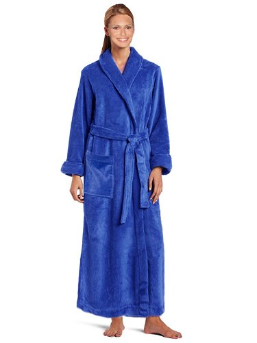 Royal Resort Collection: Luxury Shawl Robe - Terry Velour BathRobe, 100% Turkish Cotton, Color: Sapphire Blue, UNISEX - Size: Universal