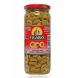 Figaro Slicedgreen Olives, 450g