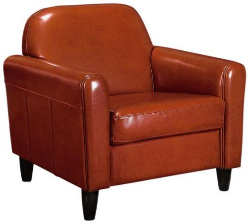 Cannes Leather Club Chair, STANDARD, BURNT ORANGE Review