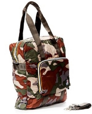 K-way Shopper Borsa Donna Shopping Bag Men Women K1301 Camouflage Chiaro