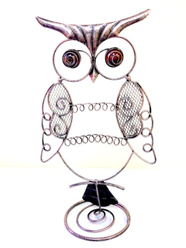 Bejeweled Display® Antique Silver Owl Earring Holder~Necklace r Jewelry Display