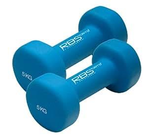 RBSports 34068 Haltère de fitness pour homme Paire 2 x 3 kg Bleu