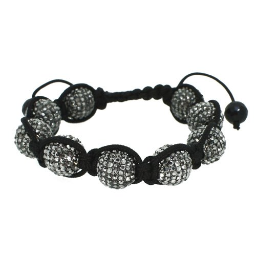 Disco Ball Bracelet 14mm Hematite 9 Ball