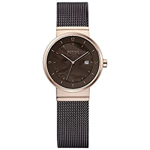 BERING Time Women's Solar Collection Watch with Mesh Band and scratch resistant sapphire crystal. Designed in Denmark. 14426-265