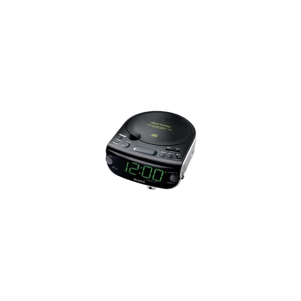 Sony Dream Machine ICF CD843V CD Clock Radio with Digital Tuner