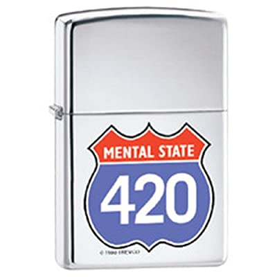 420 Four Twenty Cannabis Appreciation Day Novelty Zippo Lighter