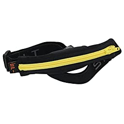 SPIbelt Sports / Running Belt: Original - No-Bounce Running Belt for Runners, Athletes and Adventurers - Fits iPhone 6 and Other Large Phones, Yellow Zipper