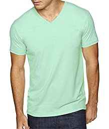 Next Level Apparel 6440 Mens Premium Fitted Sueded V-Neck Tee - Mint, Medium