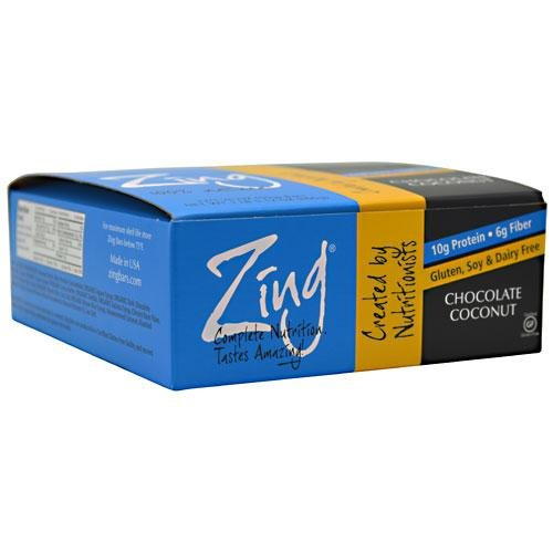 Zing Nutrition Bar-Chocolate Coconut-Box - 12 Bars - Box