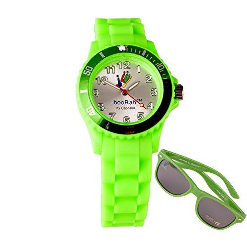 booRah® Bez BZL3G Lime Green Watch + Sunglasses