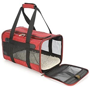 Orginal Deluxe Sherpa Pet Carrier Bag Large Red