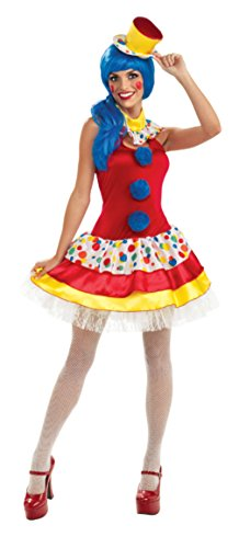 Rubies Womens Fancy Giggles The Sexy Clown Adults Theme Party Halloween Costume