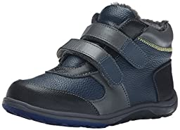 See Kai Run Orion Leather Boot (Toddler/Little Kid), Navy, 10.5 M US Little Kid