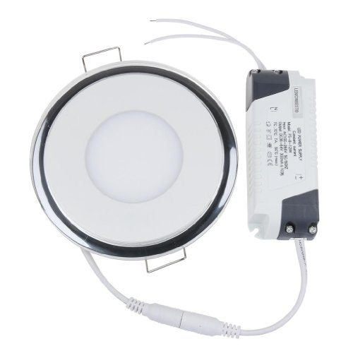 Lemonbest 100-245V 15W Led Acrylic Recessed Led Panel Light 3000K~3500K Warm White Smd Ceiling Light Downlight Lamp Round For Indoor Decoration