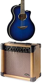Yamaha APX500III OBB Guitar w/Stagg 15-Watt Acoustic Amp