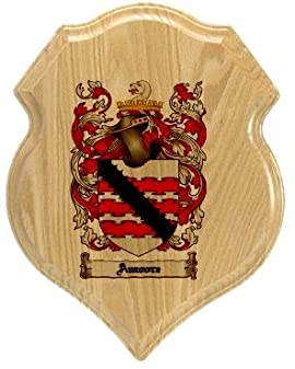 Amoore Coat of Arms Plaque / Family Crest Plaque