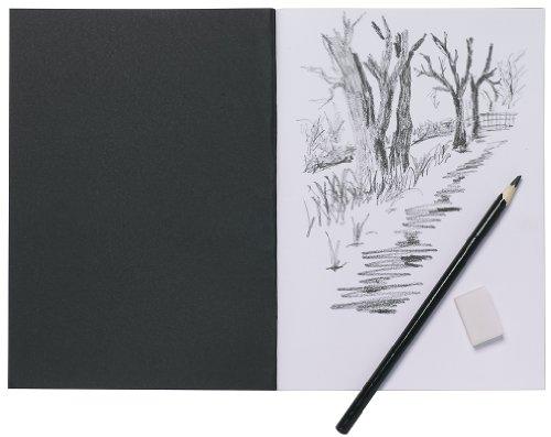 a5-artist-sketch-book-white-cartridge-paper-black-card-cover-art-pad