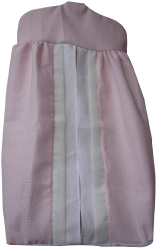 Baby Doll Bedding Classic Bows Diaper Stacker, Pink