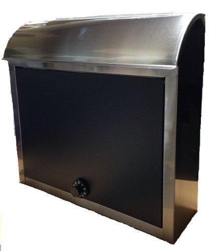 ステンレスポスト 暗証ダイヤル式 【大型】 ブラック色 B4サイズ対応 郵便 メール便 宅配BOX