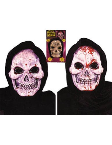 Scary-Masks Skull Mask Dripping Bleeding Halloween Costume - Most Adults