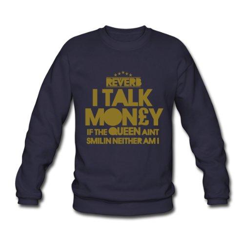 Spreadshirt, I Talk Money, Men's Sweatshirt, navy, XXL