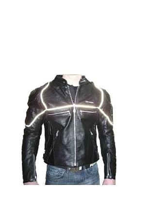 Veste en cuir pour motard - noir - taille L