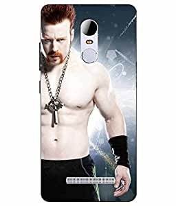 Make My Print Sheamus Printed Blue Hard Back Cover For RedMI Note 3