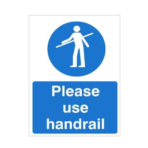 'Please Use Handrail' Sign 150x200 Self Adhesive