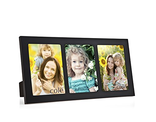 Philip Whitney 3 Opening Black Wooden 4x6 Collage Picture Frame (Table Top Picture Frames compare prices)