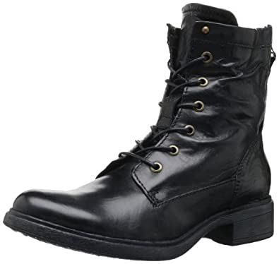MJUS Women's Georgie Combat Boot,Black,39 EU/8.5 M US