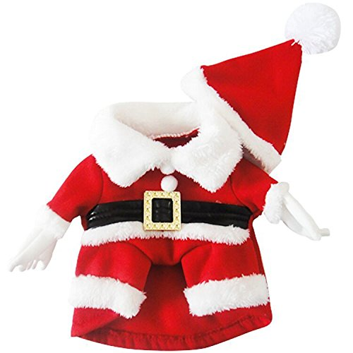Lillypet-TM-Christmas-DressHat-Clothes-Santa-Dog-Costumes-Pet-Apparel-New-Design