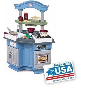 Little tikes sizzle 39 n pop kitchen kids play for Kitchen set toys amazon