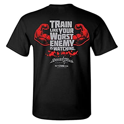 Ironville Train Like Your Worst Enemy Is Watching Bodybuilding T-Shirt