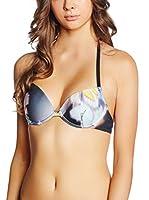JUST CAVALLI Sujetador de Bikini (Gris / Multicolor)