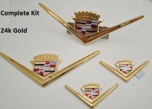 CADILLAC VINTAGE EMBLEM KIT (Cadillac Emblem Gold compare prices)