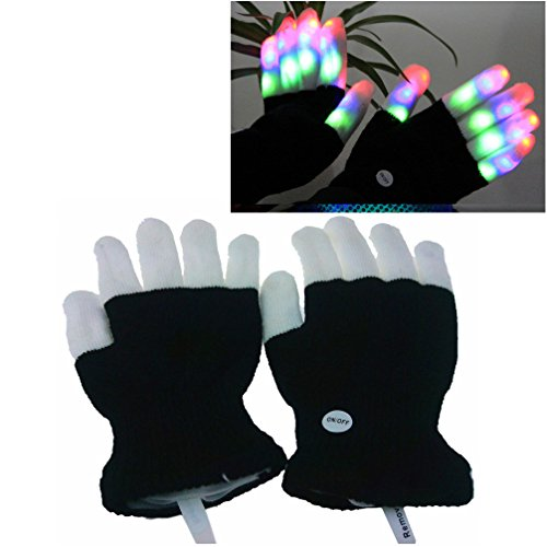 Luwint Children LED Finger Light Gloves - Amazing Colorful Flashing Novelty Toys for Kids (Toys For 5 Year Old Boys compare prices)