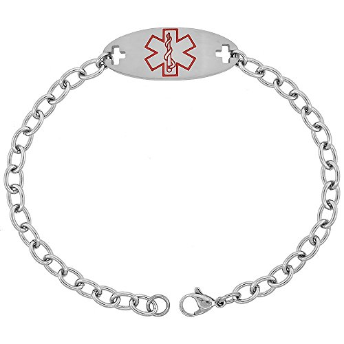 surgical-steel-medical-alert-bracelet-for-blood-thinner-id-9-16-inch-wide-9-inch-long