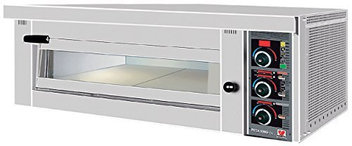 North Pro Gas FP 70 Commercial Electric Pizza Oven with Fire Resistant Plate - 4 pizzas Ø360mm (400V-3N-AC-50Hz) (Made in Greece)