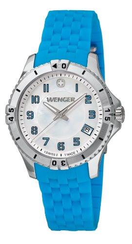 wenger - 010121102 - Montre Femme - Quartz Analogique - Bracelet Silicone Turquoise