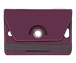 Purple Stylabs Tablet Book Flip Case Cover For Samsung Galaxy Tab 3 Neo (Universal)