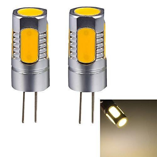 Mudder® 2Pcs G4 Base Dc 12V 5W Cob Smd 180-200Lm Led Bright Warm White Light Spotlight Bulbs