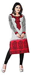 SANVARI FASHION Women's Crepe Straight Kurta (Event112-A, Multi-Coloured, XXL)