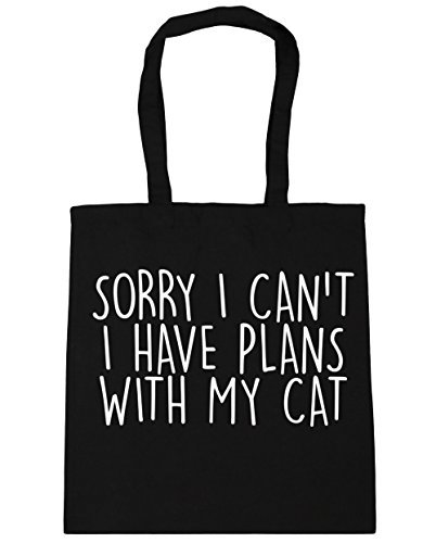 hippowarehouse-sorry-i-cant-i-have-plans-with-my-cat-tote-shopping-gym-beach-bag-42cm-x38cm-10-litre