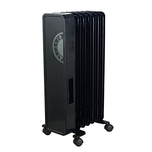 1500-Watt Electric Oil-Filled Glass Faced Digital Radiator Portable Heater (Oil Filled Heater Cuori compare prices)