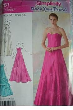 Designer Petite Dress Patterns For Women MISSES MISS PETITE EVENING
