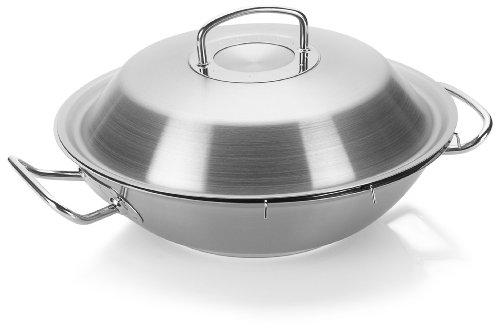 fissler wok original profi collection edelstahl pfanne wokpfanne hoch mit deckel 30 cm. Black Bedroom Furniture Sets. Home Design Ideas