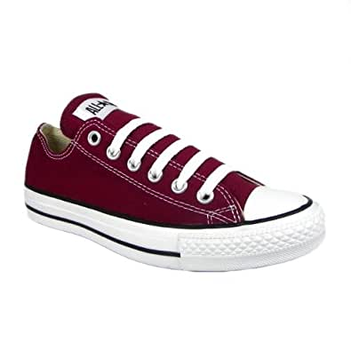 Converse M9691 Unisex All Star Ox Canvas Trainers Mens Sizes Available - Maroon