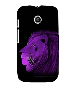 printtech Nature Animal Lion Abstract Back Case Cover for Motorola Moto E XT1021 / Motorola Moto E (1st Gen)