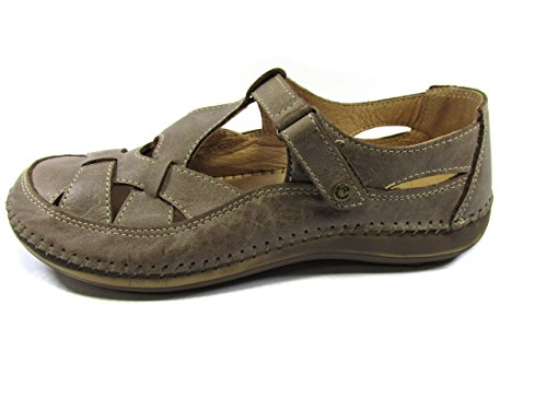 RIPOSELLA SANDALO IN PELLE CUCITO A MANO - MADE IN ITALY 36, Taupe MainApps
